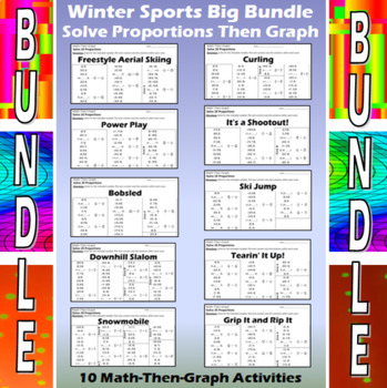 Winter Sports - 10 Math-Then-Graph Activities - Solve Proportions