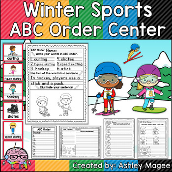 Winter Sports ABC Order Center/Station with differentiation options