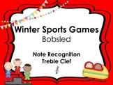 Winter Sports: Bobsled Treble Clef