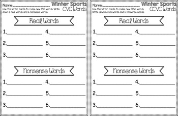 Winter Sports Center ~ CVC & CCVC Real or Nonsense