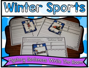 Winter Sports Center ~ Secret Sentence Write the Room