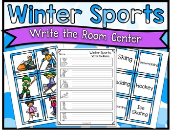 Winter Sports Center ~ Write the Room
