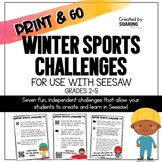 Winter Sports Challenges | For Use with Seesaw