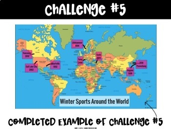 Winter Sports Challenges   For Use with Seesaw
