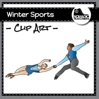 Winter Sports Clip Art - 30 PNGS