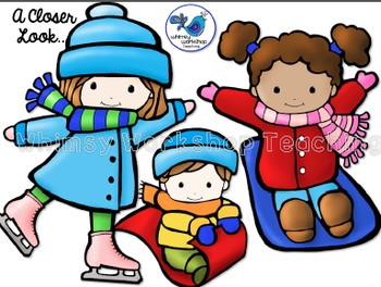 Winter Sports Clip Art - Whimsy Workshop Teaching