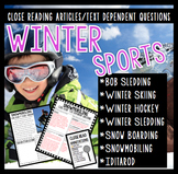 Winter Sports Close Reading Pack