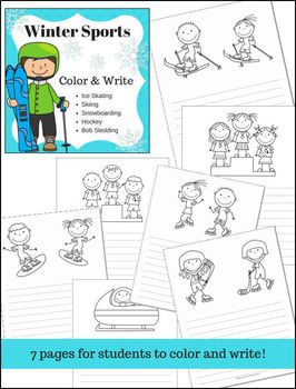Winter Sports Color and Write