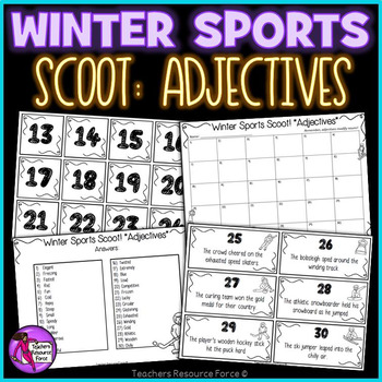 Snow Games Scoot for Adjectives