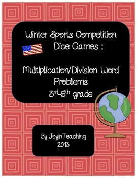 Winter Sports Competitions Dice Games: Multiplication Division Word Problems
