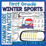 Daily Common Core {Winter Sports} Math Practice First Grade