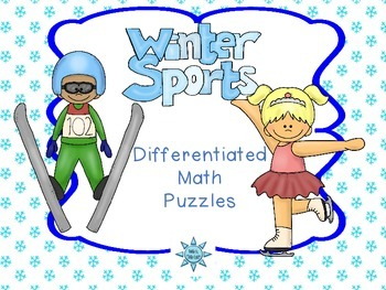 Winter Sports Differentiated Math Puzzles