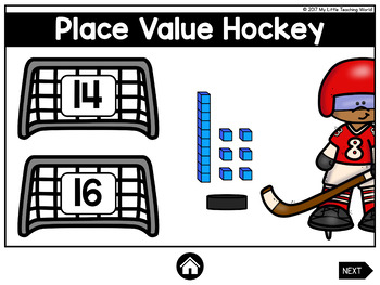 Winter Sports Digital Math Centers (Interactive Powerpoint Games)
