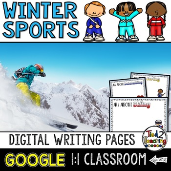 Winter Sports Digital Writing Pages