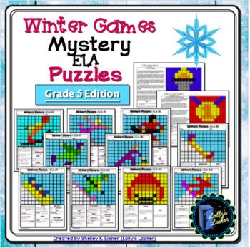 Winter Sports ELA Mystery Puzzles Grade 5 Edition