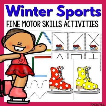 Winter Sports Fine Motor Activities