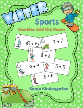 Winter Sports Fun Doubles Add the Room (Sums of 0 to 20)
