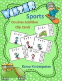 Winter Sports Fun Doubles Addition Math Centers  (Sums of 0 to 20)