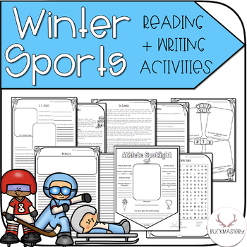 Winter Sports/Games Reading + Writing Activities
