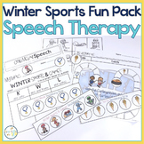 #warmupwithsped2 Winter Sports & Games Speech & Language Themed Therapy Fun Pack