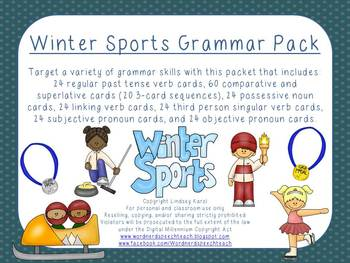 Winter Sports Grammar Pack
