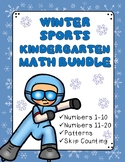 Winter Sports Kindergarten Math Bundle: 1-20, Patterns, Skip Counting