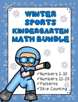 Winter Sports - Kindergarten Math Packet: 1-20, Patterns, Skip Counting