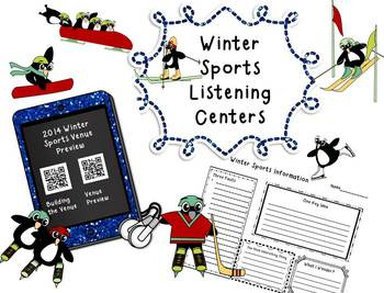 Free!!! Winter Sports Listening Center QR Codes with Graph
