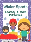 Winter Sports Literacy and Math Printables