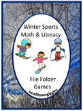 Winter Sports Fine Motor Math & Literacy Folder Games Kindergarten Activities