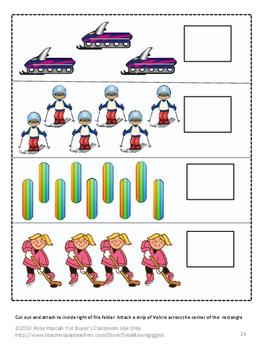 Winter Sports Fine Motor Math & Literacy Folder Games Kindergarten Activities