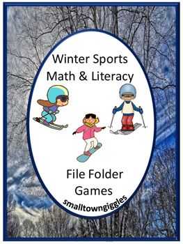 Winter Sports Math & Literacy Centers File Folder Games Ki