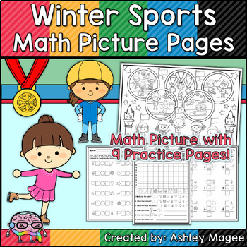 Winter Sports Math Picture Pages