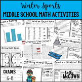 Winter Sports Middle School Math Activities