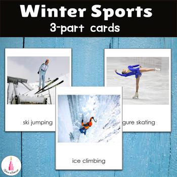 Winter Sports Montessori 3-part cards