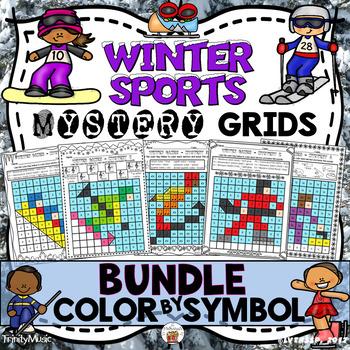 Winter Sports Mystery Grids (BUNDLE)