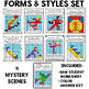 Winter Sports Mystery Grids (Form and Styles)