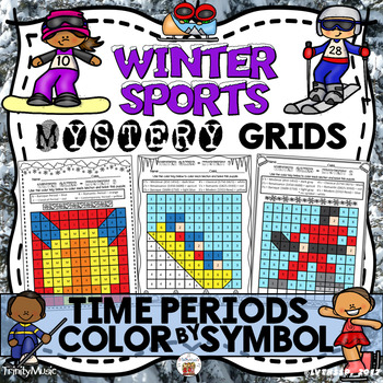 Winter Sports Mystery Grids (Music Time Periods)