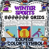 Winter Sports Mystery Grids (Solfege)