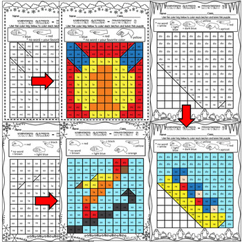 Winter Sports Mystery Grids (Solfege)