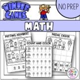 Winter Sports No Prep Kindergarten Math