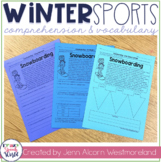 Winter Sports Reading Comprehension & Vocabulary