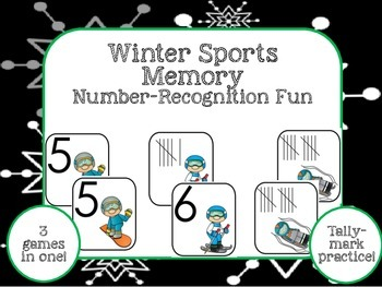 Winter Sports Number-Recognition Fun!