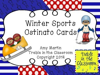 Winter Sports Ostinato Cards
