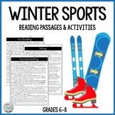Winter Sports Differentiated Reading Passages Distance Lea
