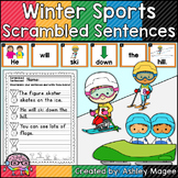 Winter Sports Scrambled Sentences Center