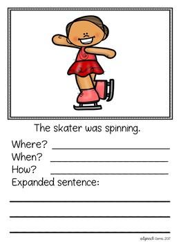 Winter Sports Expanding Simple Sentences