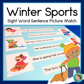 Winter Sports Sentence Picture Match Reading Center