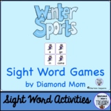 Winter Sports Sight Word Games
