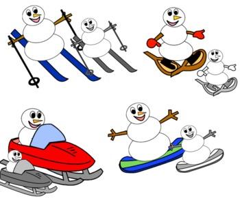 Winter Sports Snowmen
